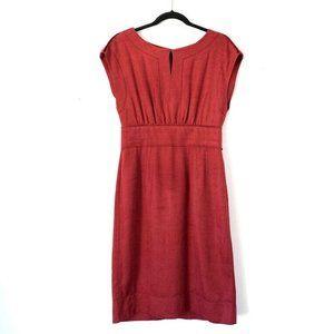 Dolce & Gabbana 8 Red 100% Raw Silk Dress
